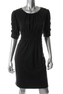 Jones New York New Gray Stretch Knee Length A Line Casual Dress Petites 12P