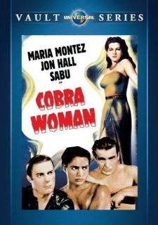 New DVD Cobra Woman Maria Montez Jon Hall Lon Chaney Jr