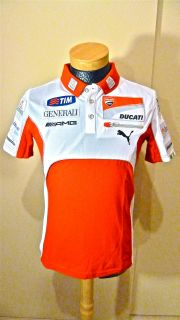 2012 Ducati Team Issues Only Polo Shirt Valentino Rossi Nicky Hayden