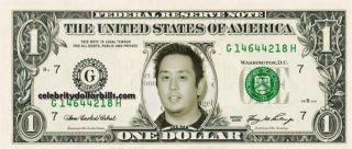 Linkin Park Joe Hahn Celebrity Dollar Bill Uncirculated Mint US Currency Cash