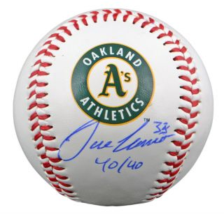 Jose Canseco Signed Oakland A's Logo Baseball w 40 40 GA Certified