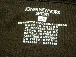 Jones New York Sport Women Blouse Size L 100 Cotton