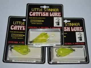 3 Packs New Uncle Josh's Little Stinker Catfish Lures Tear Drop Large Size