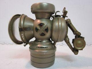 Antique Vintage Jos Lucas Safety Bicycle Bike Carbide Gas Lamp Light Lantern