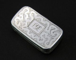 Anique 19hC Georgian Solid Silver Vinaigree Joseph aylor Birmingham C1805  