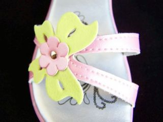 New Baby Girls Pink Bufferfly Sandals Shoes Sz 6 Josmo