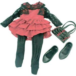 Journey Girls 18 inch Doll Clothes Red Black Dress