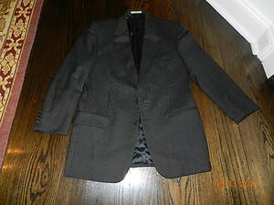 Mens Joseph Aboud Black Gray Brown Tweed Wool 2 Button Suit Size 39 R
