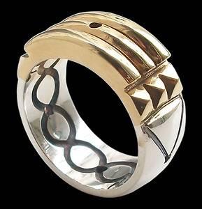 Anillo Atlante Plata 925 Bañado Oro 24K Atlantis Ring