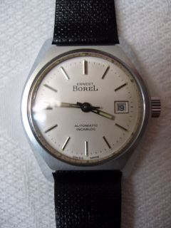 Vintage Borel Watch 19660's Water R Auto New Swiss