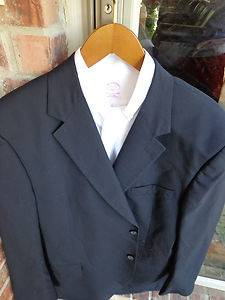 Joseph A Bank Navy 2 BTN Mens Wool Blazer Jacket Sport Suit Coat 48L Long Tall