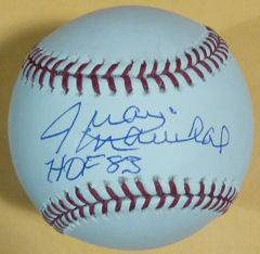 "Juan Marichal Autographed Signed OML Baseball San Francisco Giants w ""HOF 83"""