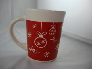 Christmas red gift box happy snow man Joy Coffee Mug