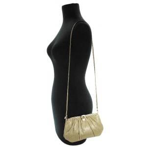Authentic Vtg Judith Leiber Lizard Frame Tiger Eye Shoulder Clutch Bag NR
