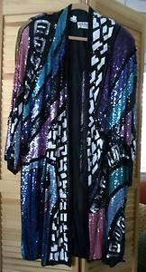Colorful Judith Ann Plus Sequin Jacket Women's Plus Size 3X