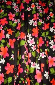 Vtg 60's Judy Miller California Mod Floral Maxi Hippie Festival Belted Dress M