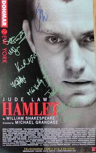 Jude Law Kevin McNally Cast Signed Hamlet 14x22 Broadway Poster Window Card