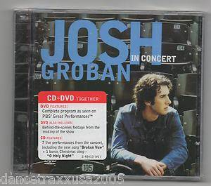"Josh Groban in Concert CD DVD ""O Holy Night"" 093624841326"