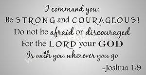 I Command You Vinyl Word Quote Wall Decal Joshua 1 9 God Scripture Inspirational