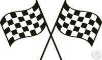 Checkered Flag Racing Race Flag Nascar JR STICKER DECAL