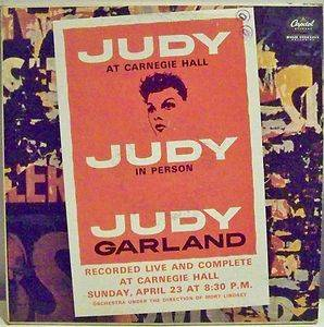 JUDY GARLAND JUDY AT CARNEGIE HALL LP RECORD 1961 USED