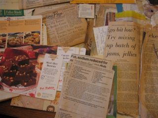 Huge Vintage Lot of Recipes Handwritten Clipped Typed Cards Notebook Binders Etc