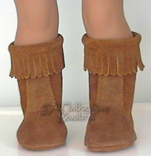 Doll Clothes Fits American Girl Julie Brown Moccasin Boots