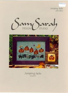 Pumpkins Jumping Jacks Counted Cross Stitch Pattern