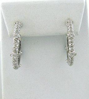 Judith Ripka Gothic 18K Gold 2 60ctw Diamond Hoop Earrings $5 900 00