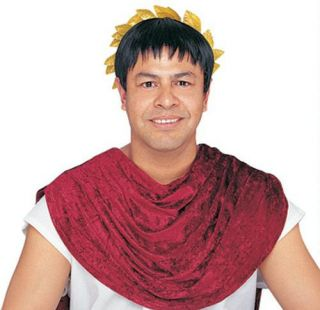 Julius Caesar Roman Trojan Greek Toga Black Costume Wig