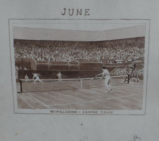 Calendar Artwork June Wimbledon centre court Sidney Robertson Rodger