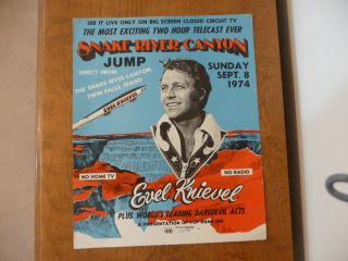Evel Knievel Snake River Canyon Jump Poster
