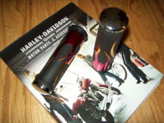 Flamed Grips Black for Harley Davidson 1 inch Handle Bar