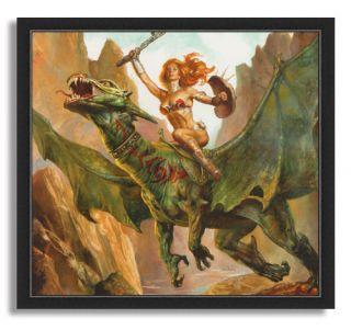 11x12 Boris Vallejo Julie Bell Gladiator Fantasy Art Framed