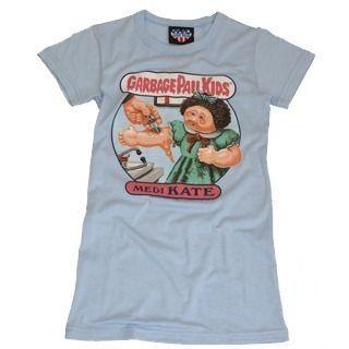 Junk Food Garbage Pail Kids Katie Blue T Shirt Size 8 S