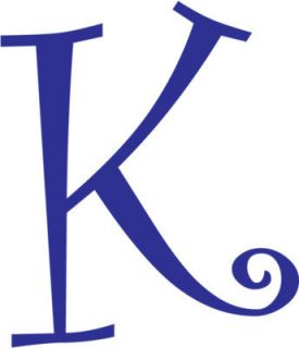 Letter K Initial Vinyl Car Decal Window Sticker