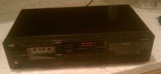 JVC Stereo Dual Cassette Deck Model TD W330J
