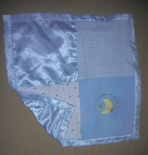 Just Born Baby Blue Security Blanket Wish Upon A Star Size 17x17 Inch