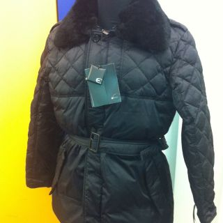 Just Cavalli Mens Black Fur Collar Padded Jacket Size 54 BNWT retail