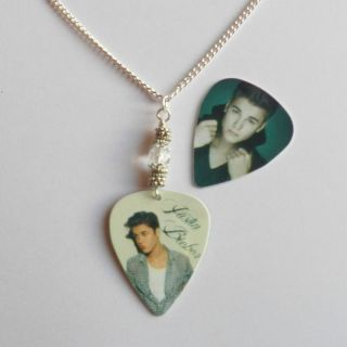 Justin Bieber Guitar Pick Plectrum Crystal Necklace Angels Demons