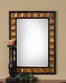 Justus Decorative Wood Beveled Wall Mirror