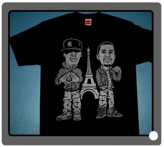 Cajmear Kanye West Jay Z Air Yeezy 2 shirt tee watch tee throne