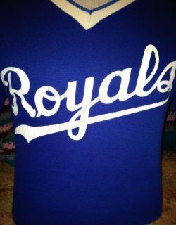 Vintage 1980s Kansas City Royals Cotton Ringer Jersey T Shirt