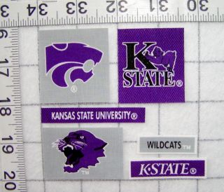 Kansas State Wildcats Iron on Fabric Appliques No Sew