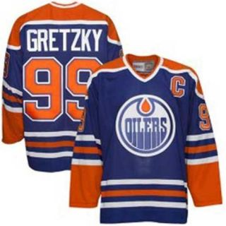 Wayne Gretzky Royal Blue Heroes of Hockey Jersey Vintage