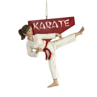 Martial Arts Karate Girl Kid Christmas Tree Ornament Sports Holiday