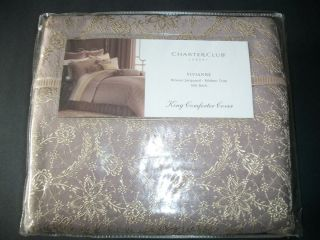 NIP Charter Club Vivianne King Comforter Cover RV $ 400