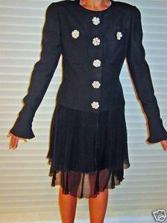 Karl Lagerfeld Chanel Evening Skirt Suit Black 38 40 6 8