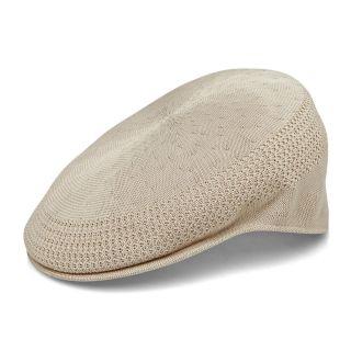 New KANGOL Style Ivy Driving Newsboy Flex Golf Cap Hat Khaki
