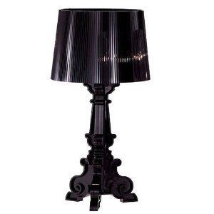 Black Treble Clef Table Lamp With Sheet Music Shade
